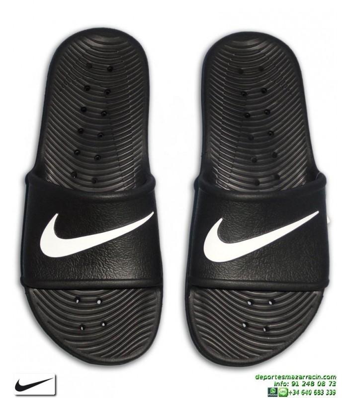 7095060d4fc66 Chancla Nike KAWA SHOWER Negro-Blanco