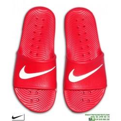 Chancla Nike KAWA SHOWER Rojo-Blanco Sandalia pala unisex 832528-600 hombre piscina playa chico