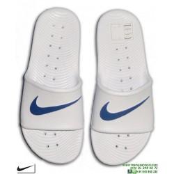 Chancla Nike KAWA SHOWER Blanco-Azul Sandalia pala unisex 832528-100 hombre piscina playa chico