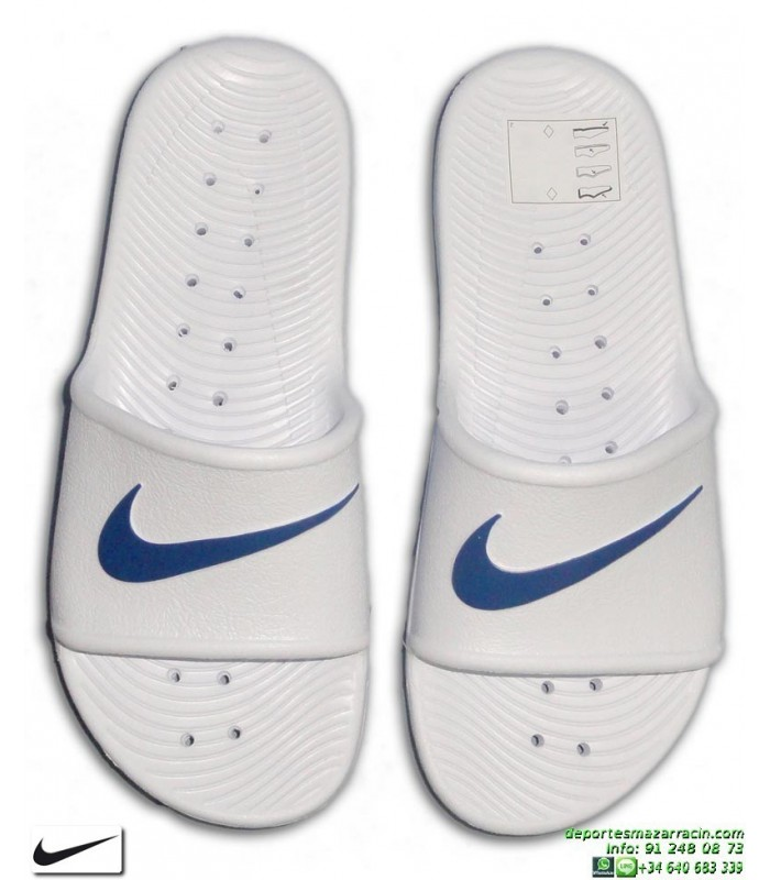 Blanco Shower Chancla Nike Azul Kawa KTlF51Juc3