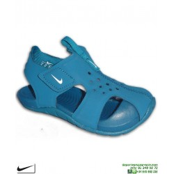 Sandalia Nike SUNRAY PROTECT 2 TD Infantil Niño Azul 943827-301 chancla ajustable velcro junior piscina playa