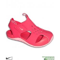 Sandalia Nike SUNRAY PROTECT 2 TD Infantil Niña Rosa 943829-600 chancla ajustable velcro junior piscina playa