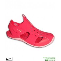 Sandalia Nike SUNRAY PROTECT 2 Niña Rosa PS 943828-600 chancla ajustable velcro junior piscina playa