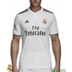 Camiseta REAL MADRID 2018-2019 Blanca 1ªEquipacion Adidas Oficial LFP CG0550 futbol