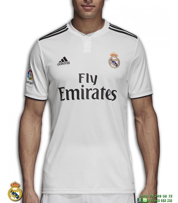 Camiseta REAL MADRID 2018-2019 Blanca 1ªEquipacion Adidas Oficial LFP  CG0550 futbol 83d0324dbf207