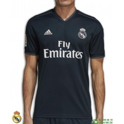 Camiseta REAL MADRID 2018-2019 negro 2ª Equipacion Adidas Oficial LFP CG0534 futbol