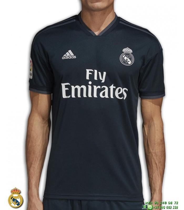 Camiseta REAL MADRID 2018 2019 negro 2ª Equipacion ADIDAS Oficial LFP