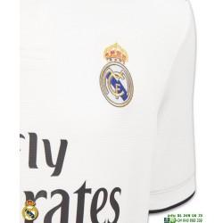 Camiseta REAL MADRID 2018-2019 Blanca niño 1ª Equipacion Adidas Oficial LFP CG0552 futbol