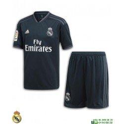 Equipacion REAL MADRID 2018-2019 Negra 2ª Camiseta Junior Adidas Oficial LFP CG0569 futbol