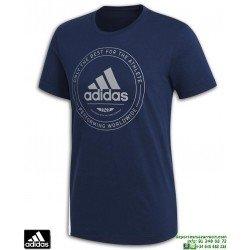 Camiseta ADIDAS ADI EMBELM Azul Marino Algodon Hombre CV4517 sportwear manga corta