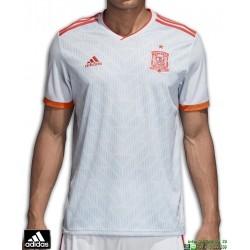Camiseta ESPAÑA MUNDIAL RUSIA 2018 Gris ADIDAS Oficial futbol BR2697 FEF A JSY