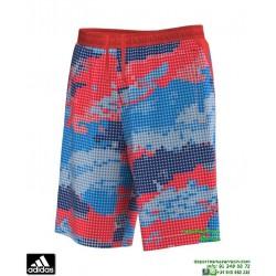 Pantalon Corto ADIDAS deporte CYL SHORT TKN estampado rojo