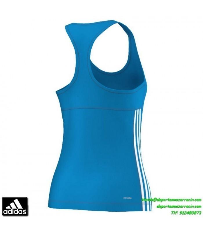 Centelleo aleación No de moda  ADIDAS camiseta tirantes deporte mujer AZUL TRANSPIRABLE