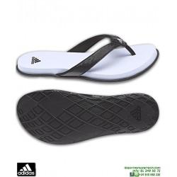 Chancla Mujer Adidas CLOUDFOAM FLIP FLOP W Blanco-Negro sandalia CG2806