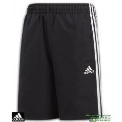 Pantalon Corto ADIDAS YB 3S WV SHORT Negro Clima Lite BQ2828 hombre