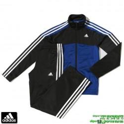 chandal ADIDAS deporte junior niño azul YK TS BTS KN OH boys chico colegio poliester acetato M64560