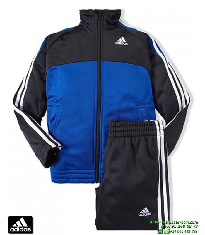 9918f1cf2 chandal ADIDAS deporte junior niño azul YK TS BTS KN OH boys chico colegio  poliester acetato
