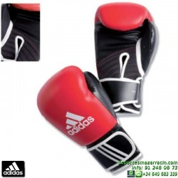 Guante de Boxeo ADIDAS IMF Negro-Rojo personalizable nombre bandera adiBC13