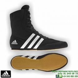 Bota Boxeo ADIDAS BOX HOG 2 Negro zapatilla personalizable nombre bandera G97067