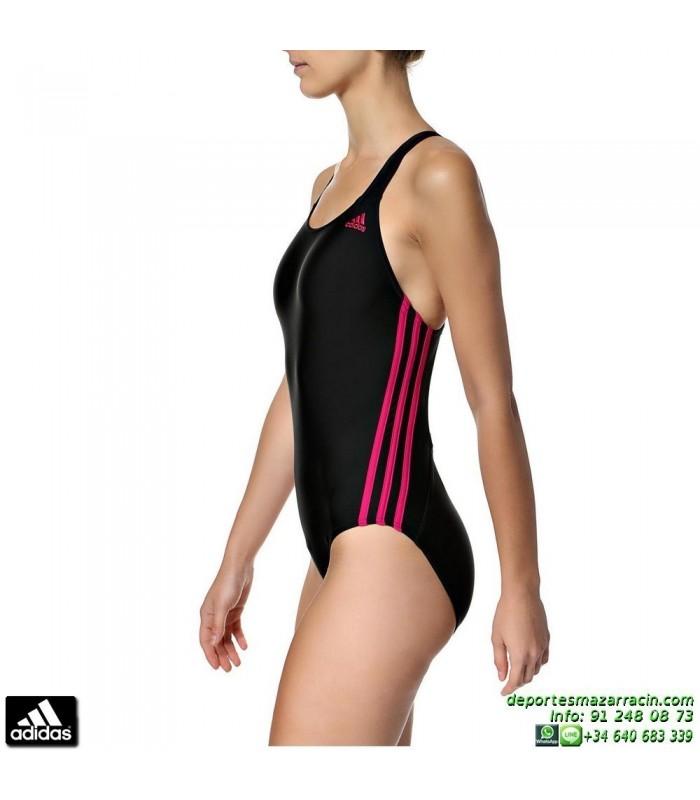 5993e6304434 Bañador ADIDAS I 3S 1PC Natacion Mujer Negro-Rosa M67268 piscina