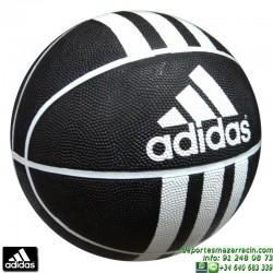 ADIDAS balon baloncesto 3 Stripe Rubber-X Basket negro 279008