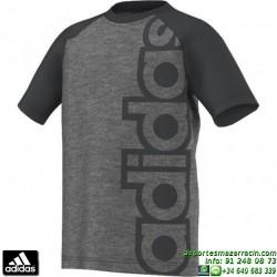 Camiseta ADIDAS YB LR B TEE Gris Manga Corta Junior niño AA8179