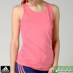 Camiseta Mujer Tirantes ADIDAS CLIMA ESS TANK ROSA AC3277 ClimaLite TRANSPIRABLE