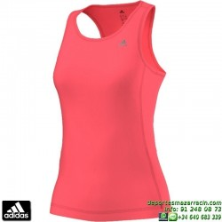 Camiseta Mujer Tirantes ADIDAS  CLIMA ESS TANK ROJO AB4987 ClimaLite TRANSPIRABLE gimnasio fitness running tenis padel