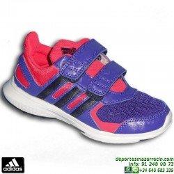 ADIDAS hyperfast 2.0 cf k Zapatilla Deporte Niña Velcro morado S83002 chica junior infantil sport correr gimnasia