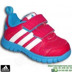 ADIDAS Zapatilla Deporte Niña infantil STA Fluid 3 CF I Velcro rosa B23932 junior sport correr gimnasia guarderia colegio