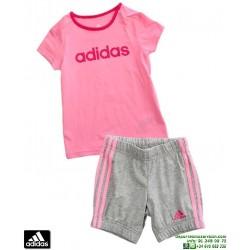 ADIDAS Conjunto SUMMER EASY GIRL SET Niña Rosa AK2610 baby camiseta pantalon