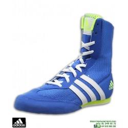Bota Boxeo ADIDAS BOX HOG 2 Azul-Amarilla AQ3404 lucha libre olímpica sambo deporte contacto personalizar nombre bandera