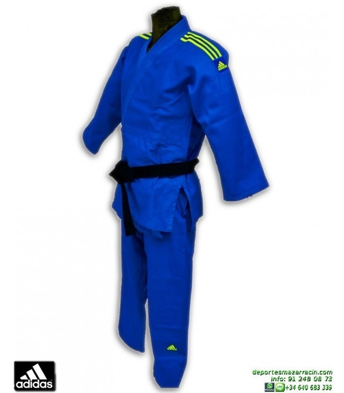 Kimono Azul Contest Judo Adidas J650 Judogi OXwZPkiuT