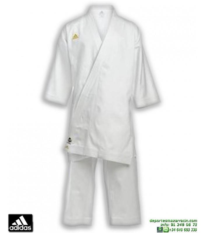 33f334de9 Kimono Karate ADIDAS CHAMPION Karategi Kata WKF CORTE JAPONES Blanco