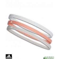 Cinta de Pelo Adidas HAIRBAND 3PP Celeste-Gris-Naranja CG2320 fina
