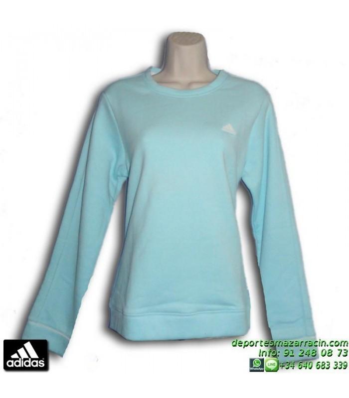 Mujer Azul Sweat 568401 Celeste Fem Chica Sudadera Adidas Brush nxfXX7
