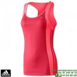 Camiseta Tirantes Mujer ADIDAS ESS MF3S TANK Z33947 Rosa climalite deporte gimnasio tenis padel