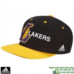 Gorra ADIDAS LAKERS Negro-Amarillo AJ9575 NBA