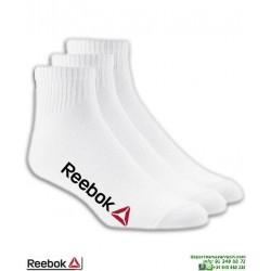 Calcetin REEBOK Tobillero Blanco Pack 3 pares 3870TE algodon Fino deporte