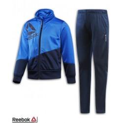 Chandal Junior REEBOK Boys Essentials Tracksuit Azul niño BQ9938 poliester acetato