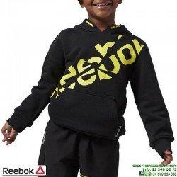 Sudadera Junior REEBOK Essentials Pullover Capucha Negro algodon AZ1252