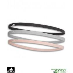 Cinta de Pelo ADIDAS 3PP HAIRBAND Negro-Gris-Coral DJ1046 futbol tenis running gimnasio