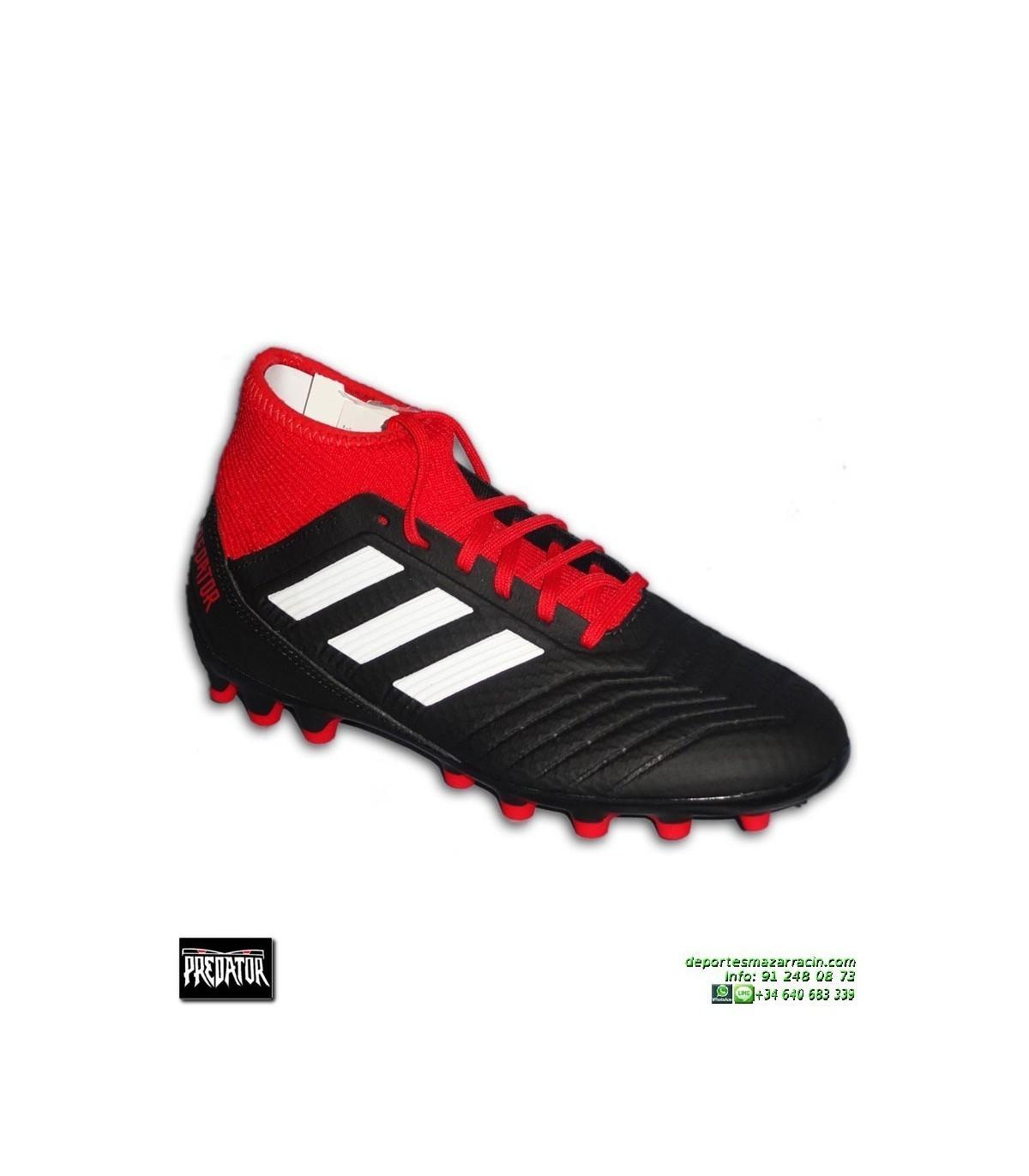 6f88b944240 ... ADIDAS PREDATOR 18.3 AG Negro-Rojo Bota Futbol Calcetin Hierba  Artificial · ADIDAS ...