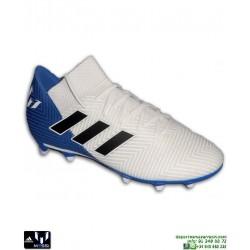 ADIDAS NEMEZIZ MESSI 18.3 Blanco-Azul Bota Futbol Hierba DB2111 personalizar