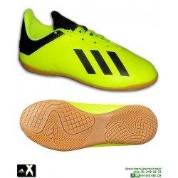 ADIDAS X Niño Tango 18.4 Amarillo Fluor Zapatilla Futbol Sala DB2433 Bale Luis Suarez Marcelo