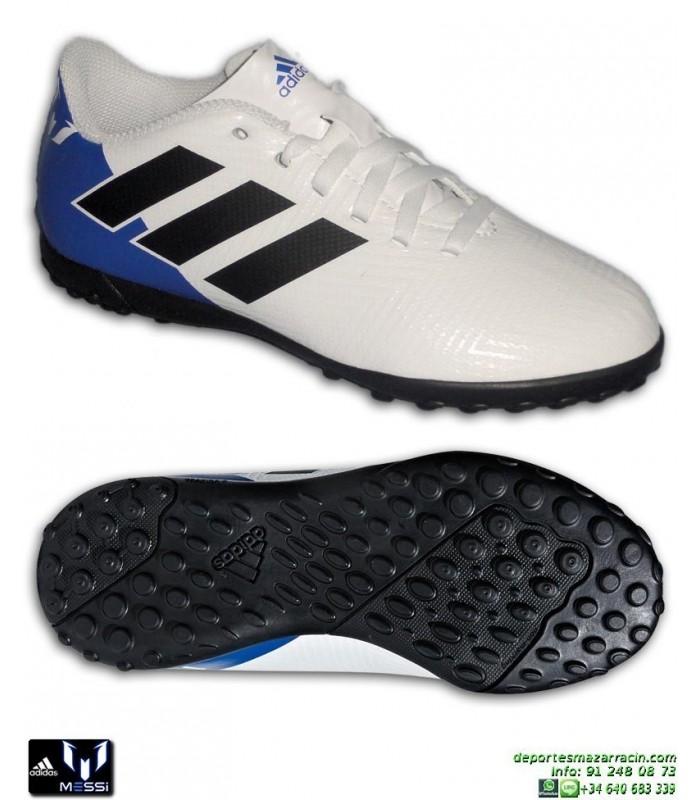 Venta barata zapatillas de deporte para barato super calidad ADIDAS NEMEZIZ MESSI Niños Tango 18.4 Blanca Zapatilla Futbol Turf