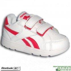 Zapatilla Clasica Infantil REEBOK ROYAL PRIME ALT Velcro Blanco V70004 niña junior personalizar