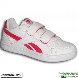 Zapatilla Clasica Niña REEBOK ROYAL PRIME ALT Velcro Blanca Rosa V69998 infantil junior personalizar
