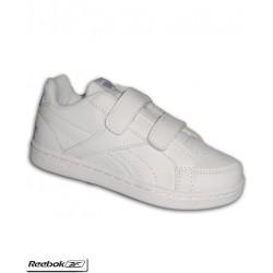 Zapatilla Clasica Infantil REEBOK ROYAL PRIME ALT Velcro Blanca V69999 uniforme colegio personalizar