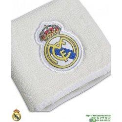 Muñequera Real Madrid ADIDAS Blanca Marino CY5619